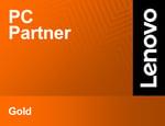Lenovo Partner Emblem - PC Partner - Gold-png